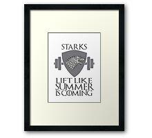 Stark Workout Framed Print