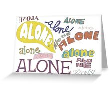 Squidward's Alone Greeting Card
