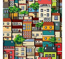 Favela seamless pattern Photographic Print
