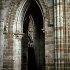 Early Gothic arch church Abbey Dore England 198405170067 by Fred Mitchell