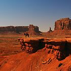 Cowboy in Monument Valley by algill