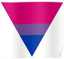 Bisexual triangle flag Poster