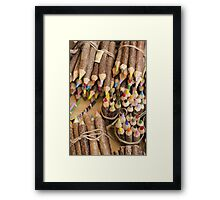 colored pencils Framed Print