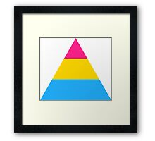 Pansexual triangle flag Framed Print