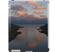 Pink and Blue Serenity - a Lakefront Stillness  iPad Case/Skin