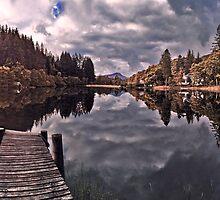 Fall over Loch Ard, Scotland by David Alexander Elder