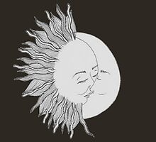 sunny day night moon by Merrmerr