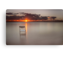 The Chair with the View - Cleveland Qld Australia Canvas Print