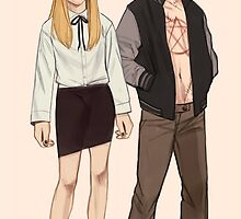 Taissa & Evan AHS Coven by ashleenowland