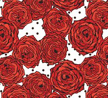 Hand drawn roses and dots by julietblnk
