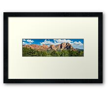 Kolob Summits Panorama Framed Print