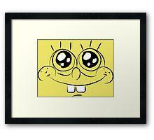 Sponge Bob face Framed Print
