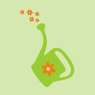 Watering Can Watering Flowers by theshirtshops