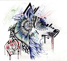 Dubstep Wolf by RiceChrispyG