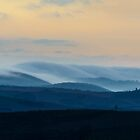 Pre-dawn mists, Val D'Orcia, Asciano, Tuscany, Italy by Andrew Jones