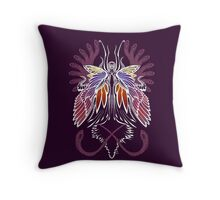 Mab the Queen of Fey (bold white and pale purple) Throw Pillow