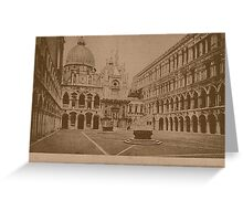 The court-yard of Doges' Palace,Venice,Italy Greeting Card