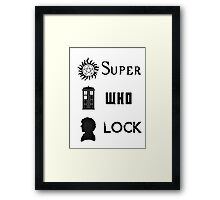 SuperWhoLock Framed Print