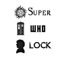 SuperWhoLock Photographic Print
