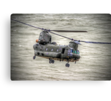 Chinook as Seen From Beachy Head -  HDR - Airbourne 2014 Canvas Print