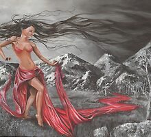 Lady of the Elements earth, wind, fire and water by Sonya Ann Barnes