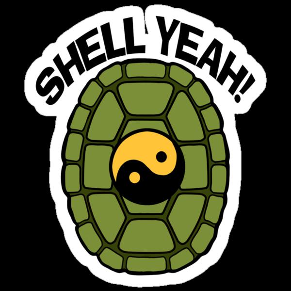 Shell Yeah Orange Sticker by cybercat