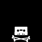 Pirates of the Cassette Player - WHITE - iPhone by bluedog725