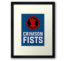 Crimson Fists - Warhammer Framed Print