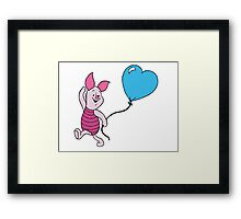 Piglet with a Balloon Framed Print