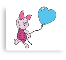Piglet with a Balloon Metal Print