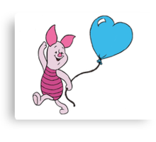Piglet with a Balloon Canvas Print