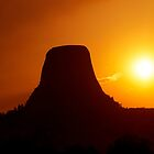 Sunset over Devils Tower by Alex Preiss