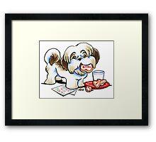 Christmas Cookie Thief Framed Print