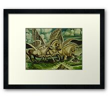 Wild Over The Water Framed Print