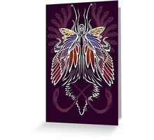 Mab the Queen of Fey (bold white and pale purple) Greeting Card