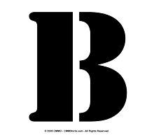 B - Black Text by cmmei