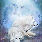Soul Mates - White Wolves by Carol  Cavalaris
