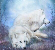 White Wolf Mates by Carol  Cavalaris