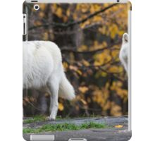 Pair of Arctic Wolves in fall iPad Case/Skin