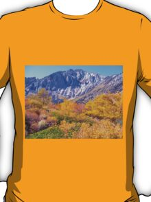 COLORFUL AUTUMN MOUNTAIN RANGE IN MAMMOTH MOUNTAIN T-Shirt