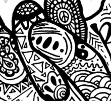 Rock On! Zentangle Sticker