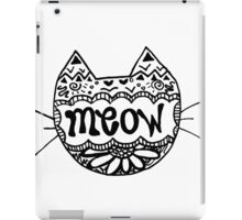 "Decorated ""Meow"" Cat iPad Case/Skin"