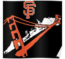 San Francisco Giants Stencil White Poster