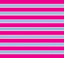 Pink and Blue Stripes by ArtfulDoodler