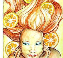 Girl With Oranges by pawelstp