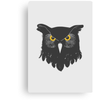Owl Dark Canvas Print