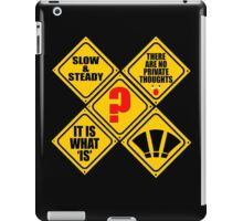 WHAT signs? iPad Case/Skin