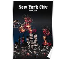 NEW YORK CITY: Big Apple Poster