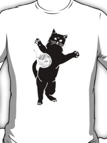 Cat And Yarn Silhouette T-Shirt