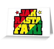 Jah Rastafari Greeting Card